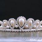 Swarovski Crystal Rhinestone & Pearl Bridal Pageant Wedding Party Tiara Comb Crown Headband Royal