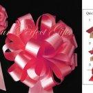 "10 WTAERMELON PINK 8"" WEDDING PULL PEW BOWS FOR BRIDAL CAKE GIFT BASKET DECORCATION PB006"