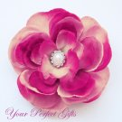 20 Oval Diamante Rhinestone Crystal Pearl Button Hair Flower Clip Wedding Invitation Ring BT024