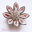 50 Round Circle Diamante Rhinestone Crystal Button Hair Clip Wedding Invitation Ring Pillow BT013