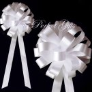 "10 WHITE 8"" WEDDING PULL PEW BOWS FOR BRIDAL CAKE GIFT BASKET DECORCATION PB027"