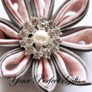 10 Round Two Row Diamante Rhinestone Crystal Pearl Button Hair Clip Wedding Invitation Ring BT036