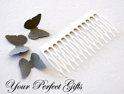 10 pcs 3 inch Silver Metal Hair Combs 14 Teeth Wedding Bridal Flower Tiara Jewelry Supplies AC006