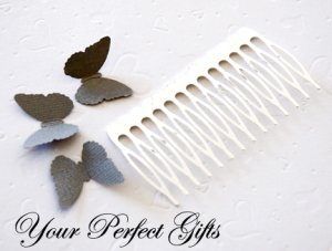 100 pcs 3 inch Silver Metal Hair Combs 14 Teeth Wedding Bridal Flower Tiara Jewelry Supplies AC006