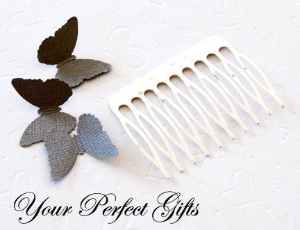 50 pcs 2 inch Silver Metal Hair Combs 10 Teeth Wedding Bridal Flower Tiara Jewelry Supplies AC005