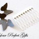 100 pcs 2 inch Silver  Metal Hair Combs 10 Teeth Wedding Bridal Flower Tiara Jewelry Supplies AC005