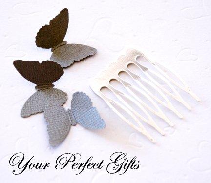 10 pcs 1.25 inch Silver Metal Hair Combs 6 Teeth Wedding Bridal Flower Tiara Jewelry Supplies AC004