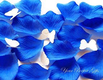 1000 ROYAL BLUE SILK ROSE PETALS WEDDING DECORATION FLOWER FAVOR RP011