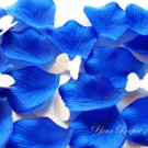 1000 ROYAL BLUE SILK ROSE PETALS WEDDING DECORATION FLOWER FAVOR RP011