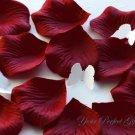 1000 BURGUNDY DARK RED SILK ROSE PETALS WEDDING DECORATION FLOWER FAVOR RP008
