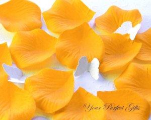 1000 TANGERINE ORANGE SILK ROSE PETALS WEDDING DECORATION FLOWER FAVOR RP023