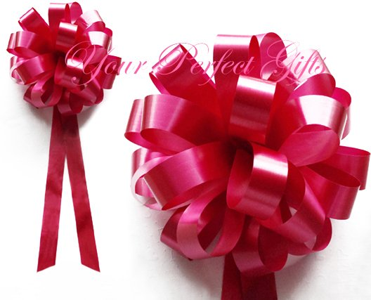 "10 APPLE RED 8"" WEDDING PULL PEW BOWS FOR BRIDAL CAKE GIFT BASKET DECORCATION PB001"