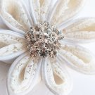 "10 Round Diamante 1.1"" (27mm) Rhinestone Crystal Button Hair Clip Wedding Invitation BT019"