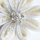 10 Round Diamante 24mm Rhinestone Crystal Button Hair Clip Wedding Invitation BT022