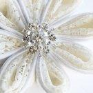 50 Round Diamante 24mm Rhinestone Crystal Button Hair Clip Wedding Invitation BT022