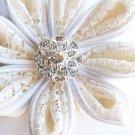 100 Round Diamante 20mm Rhinestone Crystal Button Hair Clip Wedding Invitation BT010