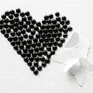 1000 Black Half Round Flat Back Pearl 4mm Wedding Invitation scrapbooking Phone Case Nail Art LP018