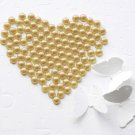 100 Yellow Half Round Flat Back Pearl 7mm Wedding Invitation scrapbooking Phone Case Nail Art LP031