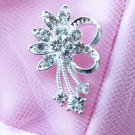 "100 pcs 1.2"" Fancy Diamante Rhinestone Crystal Button Hair Clip Wedding Invitation BT069"