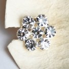 100 Round Diamante Rhinestone Crystal Button Hair Clip Wedding Invitation BT082