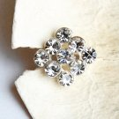 20 pcs Square Diamante Rhinestone Crystal Button Hair Clip Wedding Invitation BT087