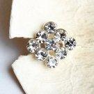 100 pcs Square Diamante Rhinestone Crystal Button Hair Clip Wedding Invitation BT087