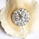 1 pc Round Diamante Rhinestone Crystal Button Hair Clip Wedding Invitation BT056