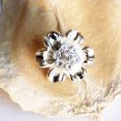 1 pc Rhinestone Button Round Diamante Crystal Hair Clip Wedding Invitation BT083
