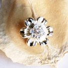 100 Rhinestone Button Round Diamante Crystal Hair Clip Wedding Invitation BT083