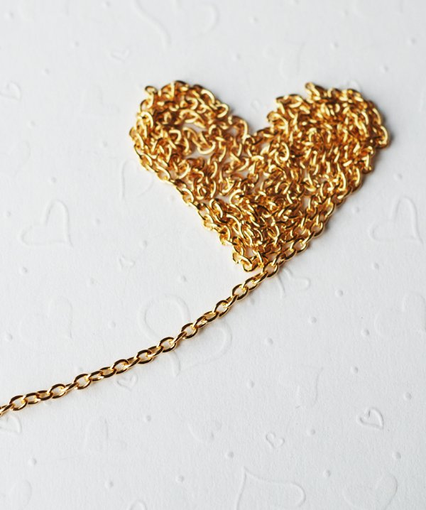 10 feet Chain gold plated 2x3mm oval cable - CH002