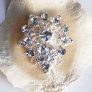 "10 pcs Round Diamante 1-1/4"" (32mm) Rhinestone Crystal Button Wedding Invitation BT050"