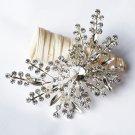 1 pc Rhinestone Crystal Diamante Silver Flower Brooch Pin Jewelry Wedding Cake Decoration BR088