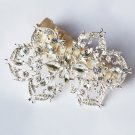 1 pc Rhinestone Crystal Diamante Silver Flower Brooch Pin Jewelry Wedding Cake Decoration BR089