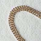 3 Feet/1 Yard SS8 2.5mm Topaz Yellow Rhinestone Chain Crystal Silver Wedding Cake Banding RC026