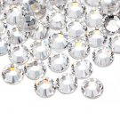 100 Acrylic Round Faceted Flat Back Rhinestone 11mm Clear Wedding Invitation scrapbooking LR134