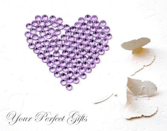 1000 Acrylic Flat Back Lavender Light Purple Rhinestone 2mm Wedding Invitation scrapbooking LR122
