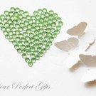1000 Acrylic Faceted Flat Back Light Mint Green Rhinestone 2mm Wedding scrapbooking LR125