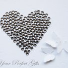 100 Faceted Flat Back Rhinestone 11mm Black Diamond/Gray Wedding Invitation scrapbooking LR146