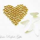 500 Acrylic Faceted Flat Back Rhinestone 5mm Gold Topaz Yellow Wedding Invitation scrapbooking LR098