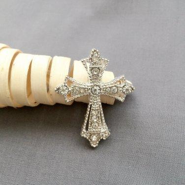 10 pcs Rhinestone Buckles Crystal Slider Silver Wedding Invitation Scrapbooking BK115