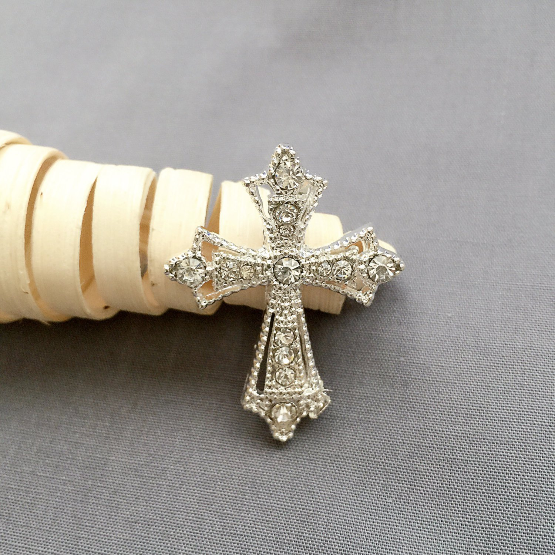 100 pcs Rhinestone Buckles Crystal Slider Silver Wedding Invitation Scrapbooking BK115