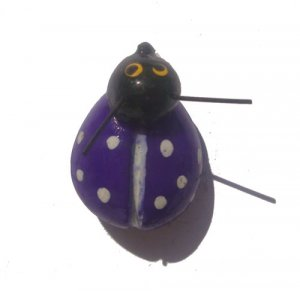 Purple Lady Bug-ALL MAGNET ORDERS HAVE A 25 PIECE MINIMUM (ASSORTED OR SAME)
