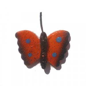 Orange Butterfly--ALL MAGNET ORDERS HAVE A 25 PIECE MINIMUM (ASSORTED OR SAME)