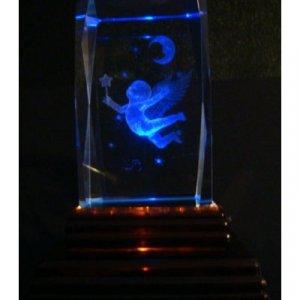 """Angel Cherubin Laser Etched 3D Crystals. Size: 2""""x2""""x3"""""""