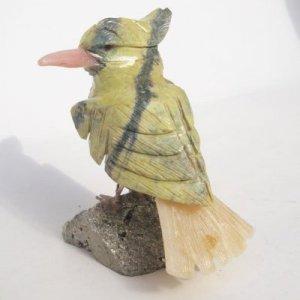 "Natural Gemstone Bird Carving Figurine 3.0"""