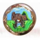"PERU LIGHT WEIGHT COPPER BATHED DECORATIVE PLATE 10.5"" DIAMETER. WITH MACHU PICCHU AND LLAMA MOTIF"