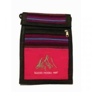 """Hot Pink Machu Picchu Design Shoulder Bag 8.5""""H x 5.75""""W with 40 inch shoulder strap"""
