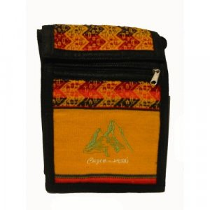 "Incan Gold Llama  Shoulder Bag 8.5""H x 5.75""W with 40 inch shoulder strap"