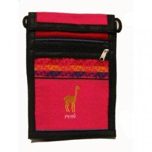 "Bright Pink Llama  Shoulder Bag 8.5""H x 5.75""W with 40 inch shoulder strap"