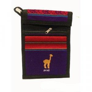 "Deep Purple Llama  Shoulder Bag 8.5""H x 5.75""W with 40 inch shoulder strap"